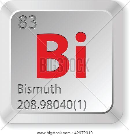 keyboard button bismuth element