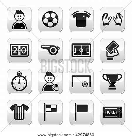 Soccer / football vector buttons set