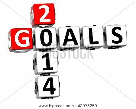 3D Goals 2014 Crossword