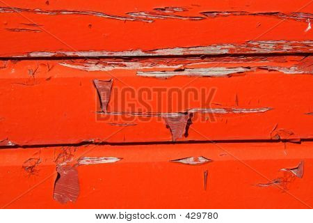 Red Peeling Paint