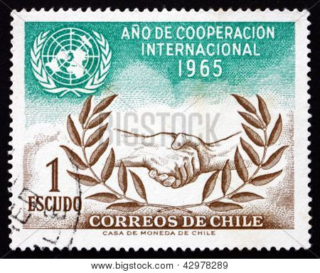 Postage Stamp Chile 1966 Un And Icy Emblems