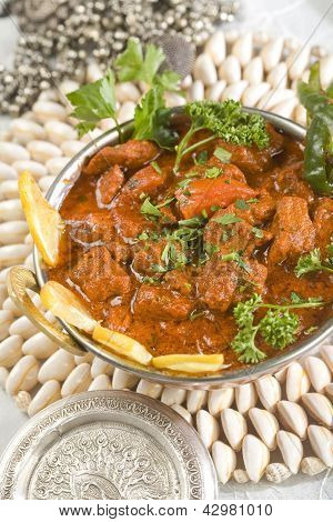 Indian food, Shahi Rogan Josh, lamb