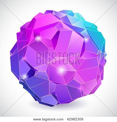 Rumpled abstract sphere