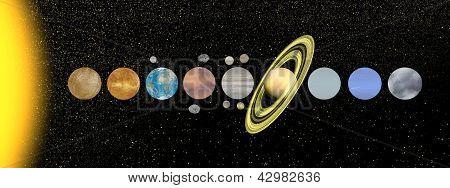 Solar System - 3D Render