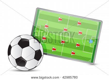 Soccer Field Tactic Table, Soccer Balls