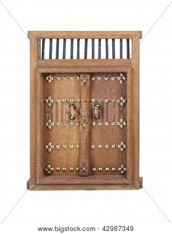 Wooden Castle Door With Brass Details
