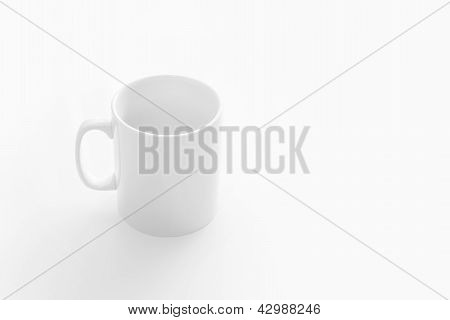 White Cup on white