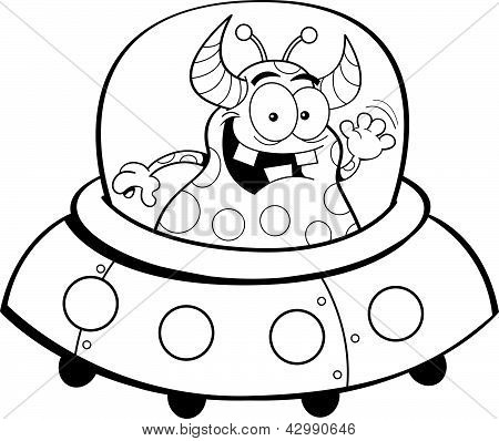 Cartoon spacecraft
