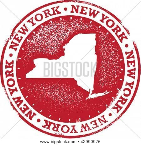 New York USA State Stamp