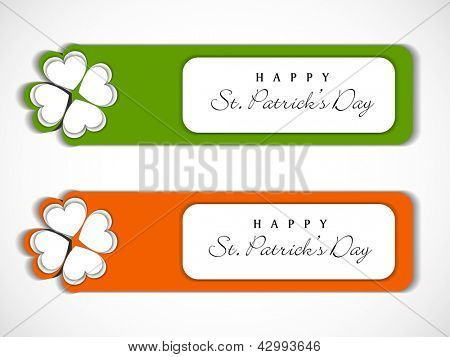 Sticker, tag or label for Happy St. Patrick's Day.