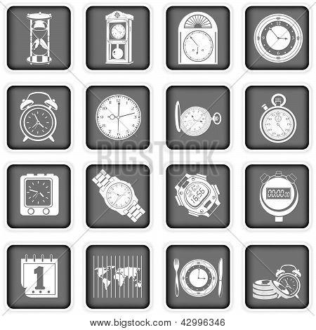 Tijd pictogrammen