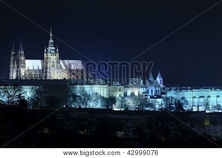 Picture Of Night Scene Of Prague Castle