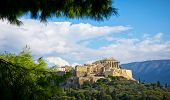 picture of ancient civilization  - Beautiful view of ancient Acropolis Athens Greece - JPG