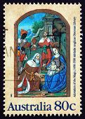 Postage Stamp Australia 1989 Adoration Of The Magi