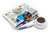 pic of mass media  - Office morning news reading concept - JPG