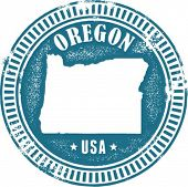 Oregon USA State Stamp