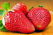 macro sweet strawberries