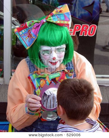 Clown With Boy