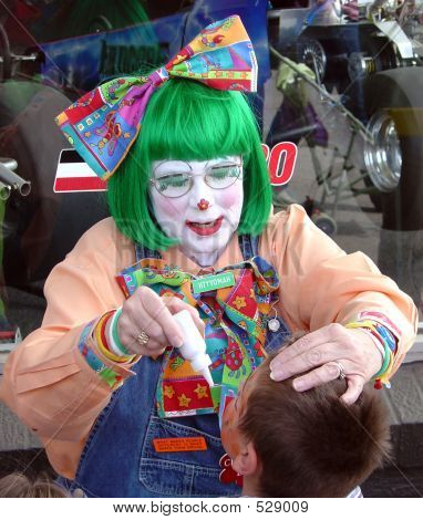 Greenhead Clown And Boy