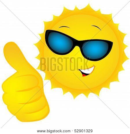 The Sun In Sunglasses