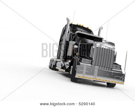 Black Heavy Truck