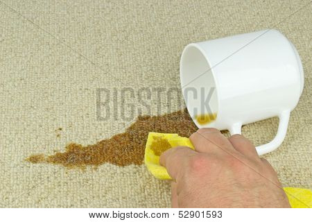 Cleaning Coffee Stain from Carpet