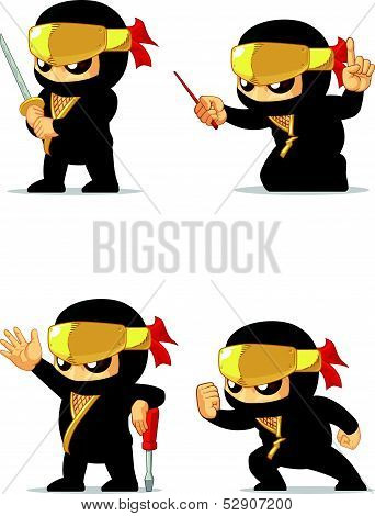 Ninja Customizable Mascot 16