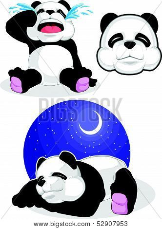 Panda Set 2 - Sleeping, Crying, Panda Head
