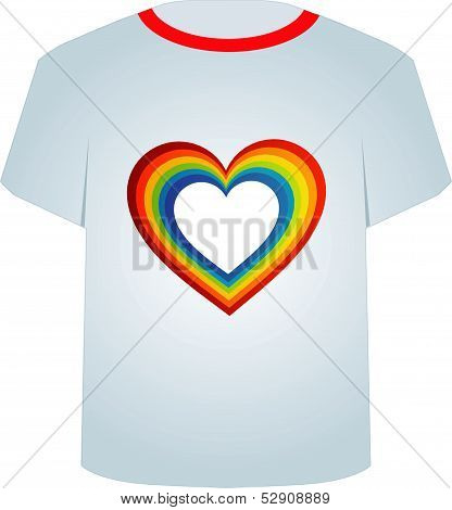 T Shirt Template- Valentine Hearts