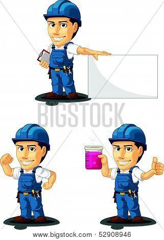 Technician Or Repairman Mascot 6