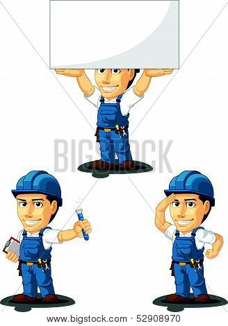 Technician Or Repairman Mascot 8
