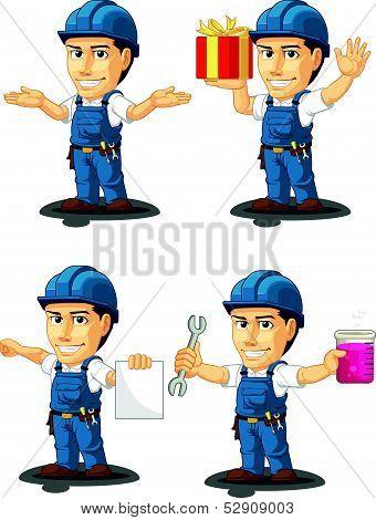 Technician Or Repairman Mascot 11