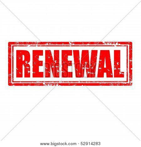Renewal-stamp