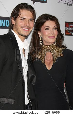LOS ANGELES - OCT 23:  Gleb Savchenko, Lisa Vanderpump at the Real Housewives of Beverly Hills Season 4 Party AND Vanderpump Rules Season 2 Party at Boulevard 3 on October 23, 2013 in Los Angeles, CA