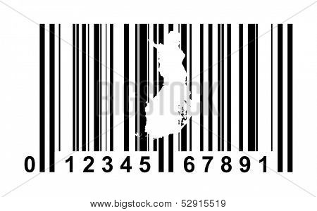 Finland shopping bar code isolated on white background.