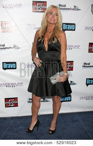 LOS ANGELES - OCT 23:  Kim Richards at the Real Housewives of Beverly Hills Season 4 Party AND Vanderpump Rules Season 2 Party at Boulevard 3 on October 23, 2013 in Los Angeles, CA