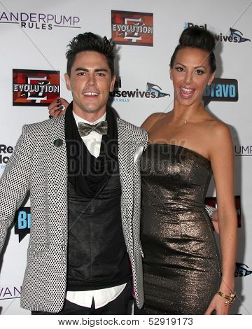 LOS ANGELES - OCT 23:  Tom Sandoval, Scheana Marie at the Real Housewives of Beverly Hills Season 4 Party AND Vanderpump Rules Season 2 Party at Boulevard 3 on October 23, 2013 in Los Angeles, CA