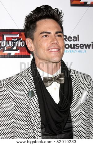 LOS ANGELES - OCT 23:  Tom Sandoval at the Real Housewives of Beverly Hills Season 4 Party AND Vanderpump Rules Season 2 Party at Boulevard 3 on October 23, 2013 in Los Angeles, CA