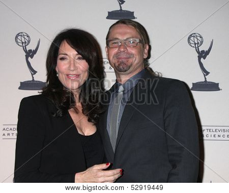 LOS ANGELES - OCT 25:  Katey Sagal, Kurt Sutter at the An Evening with