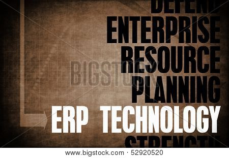 ERP Technology Core Principles as a Concept Abstract