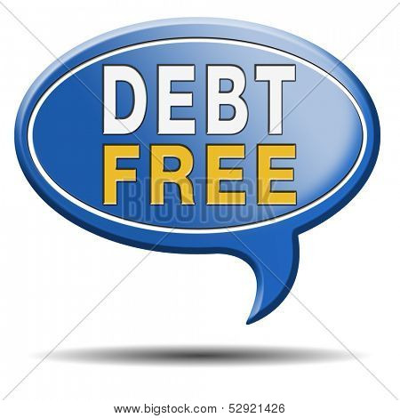 debt free zone or tax reduction today relief of taxes having good credit financial success paying debts for financial freedom