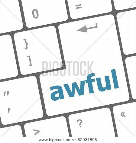 Awful Word On Keyboard Key, Notebook Computer