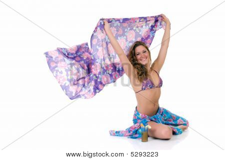 Young Woman With Sarong