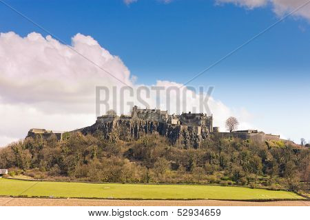 view of Stirling Castle from a distance showing how imposing it looks