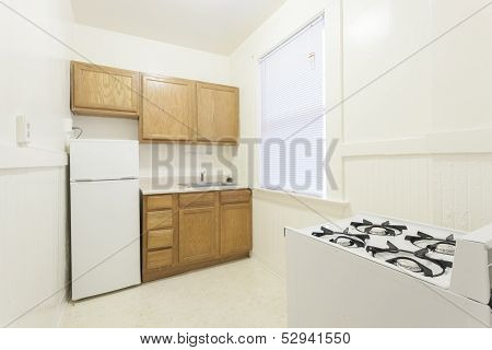 Clean empty kitchen in an apartment