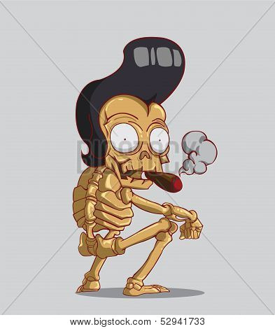 Skeleton With a Cigar