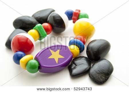 Baby toys with stones