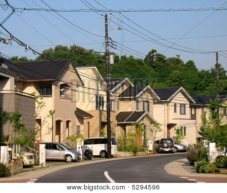 Residential Suburb Of Tokyo