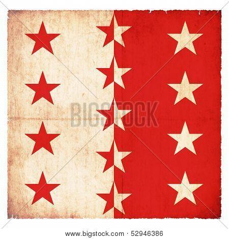 Grunge Flag Of Valais (switzerland)