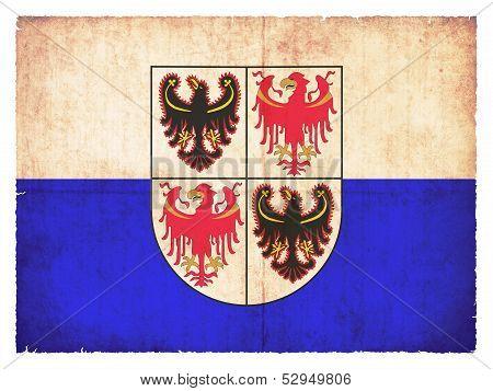 Grunge Flag Of Trentino-alto Adige (italy)